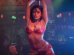 Sarah Shahi does sexy dance at strip club