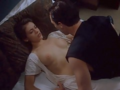 Alyssa Milano Nude Boobs And Sex Scene In Embrace of the Vam...