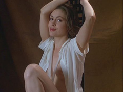 Alyssa Milano topless tits slip video
