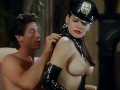 Athena Massey hot sex in pvc cop outfit