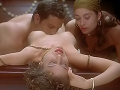 Alyssa Milano nude in group sex scene