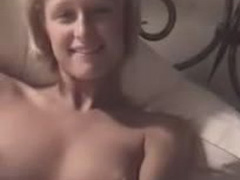 Celebrity beauty Paris Hilton rubbing her pussy