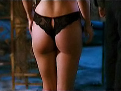 Eliza Dushku shows great ass in thong