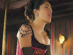Salma Hayek giant cleavage sex scene