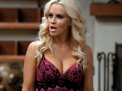 Jenny McCarthy busts out massive cleavage