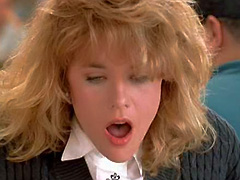 Meg Ryan faking orgasm in restaurant
