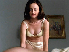 Alexis Bledel topless and hot in lingerie
