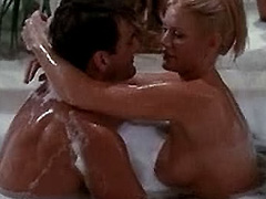Shannon Tweed topless in bubble bath
