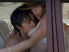 Maribel Verdu topless having sex in car