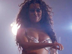 Jennifer Tilly in lingerie does hot striptease
