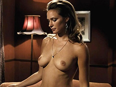 Agnes Delachair topless shows big breasts