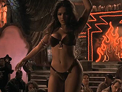 Salma Hayek does sexy dance on stage
