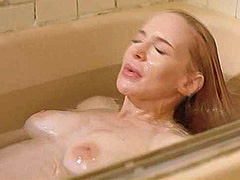 Anna Levine naked sitting up in a bath tub
