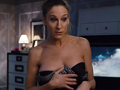 Sarah Jessica Parker cleavage in hot lingerie