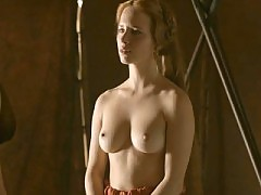 Capucine Delaby topless shows huge breasts