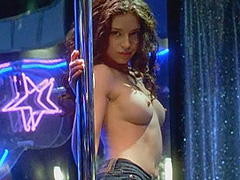 Charlotte Ayanna topless does hot strip dance