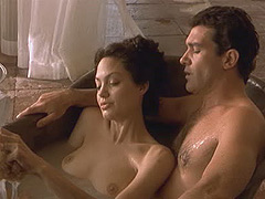 Angelina Jolie naked in the bath