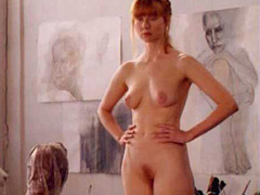 Laura Linney naked poses for an artist