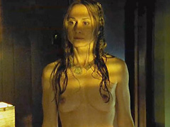 Holly Hunter naked shows her boobs and bush
