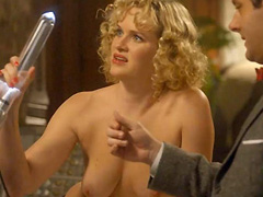 Nicholle Tom topless shows her hot breasts