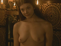 Natalie Dormer topless shows her breasts