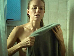 Naomi Watts nude shows boobs in the shower