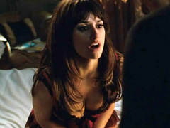Penelope Cruz busty cleavage in sexy lingerie