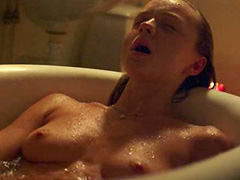 Anna Astrom naked masturbates in bathtub