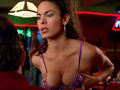 Nadine Velazquez grabs her big breasts
