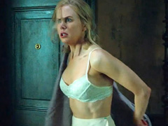 Nicole Kidman looking sexy in white lingerie
