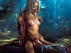 Anna Hutchison topless rides a guy during sex act