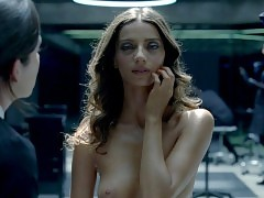 Angela Sarafyan And Shannon Woodward Nude Lesbo Scene In Wes...