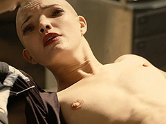 Delphine Chaneac naked strapped to a table