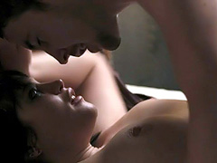 Gemma Arterton topless has hot sex with a guy