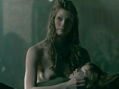 Alyssa Sutherland Nude Boobs In Vikings Series