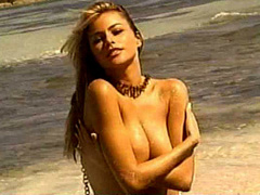 Sofia Vergara topless for swimsuit calendar