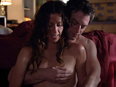 Alanis Morissette topless exposes nice tits