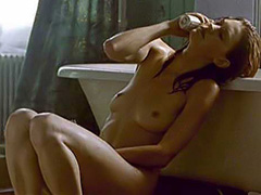 Lauren Lee Smith masturbating in bathroom