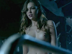 Lili Simmons topless making out with a guy