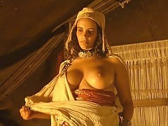 Amina Annabi Big Nude Boobs In The Sheltering Sky Movie