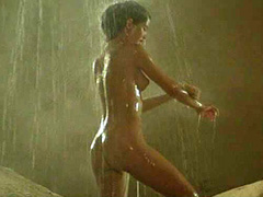 Phoebe Cates naked showering under a waterfall