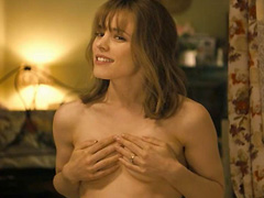 Rachel McAdams undressing as a guy watches