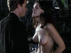 Katie Holmes topless exposes big breasts