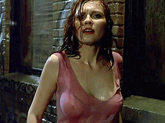 Kirsten Dunst big boobs in a  wet shirt
