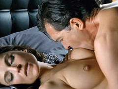 Elena Anaya nude while a guy sucks on her breasts