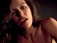Milla Jovovich nude in very hot sex act