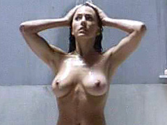 Krista Allen topless taking a shower