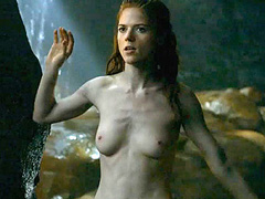 Rose Leslie nude during hot sex scene