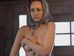 Leelee Sobieski naked covering her big boobs