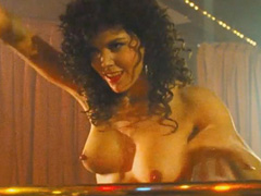 Paula Trickey topless does hot strip dance